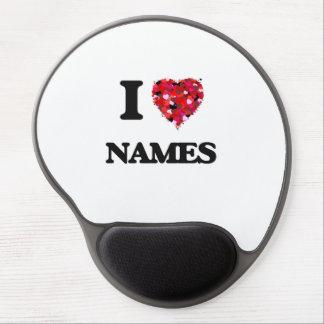 I Love Names Gel Mouse Pad