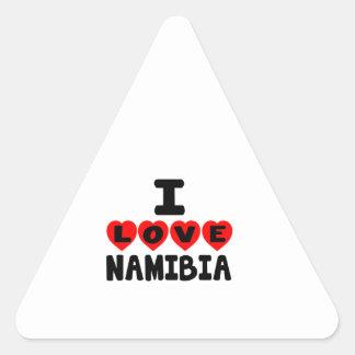 I LOVE NAMIBIA TRIANGLE STICKER