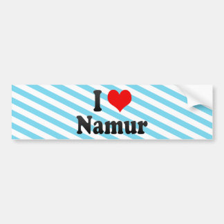 I Love Namur, Belgium Car Bumper Sticker