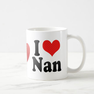I Love Nan Classic White Coffee Mug
