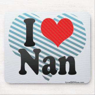 I Love Nan Mousepad