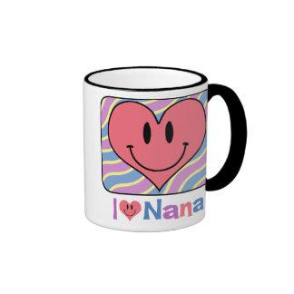 I Love Nana Ringer Coffee Mug