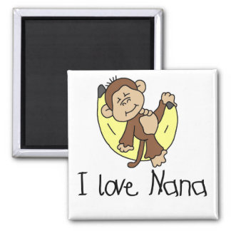 I Love Nana T-shirts and Gifts 2 Inch Square Magnet