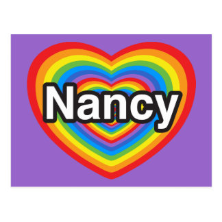 I love Nancy. I love you Nancy. Heart Postcard
