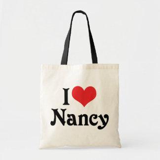 I Love Nancy Tote Bag