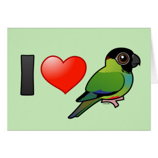 I Love Nanday Conures Greeting Card