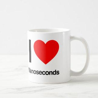 i love nanoseconds coffee mug