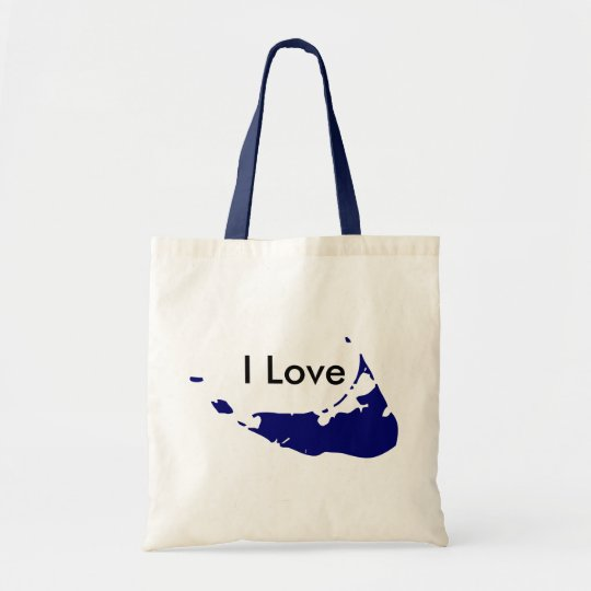 I Love Nantucket In Blue Tote