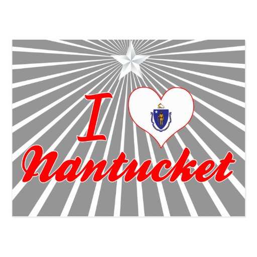 I Love Nantucket, Massachusetts Postcard
