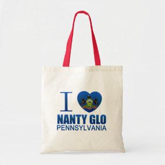 I Love Nanty Glo, PA Budget Tote Bag