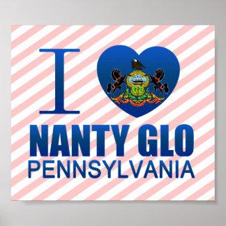 I Love Nanty Glo, PA Poster