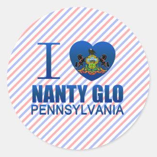 I Love Nanty Glo, PA Classic Round Sticker