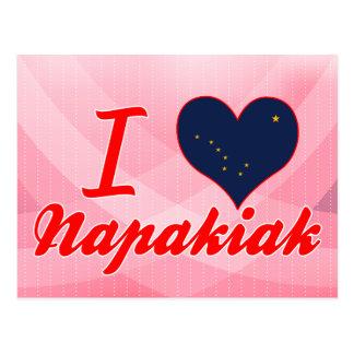 I Love Napakiak, Alaska Postcard