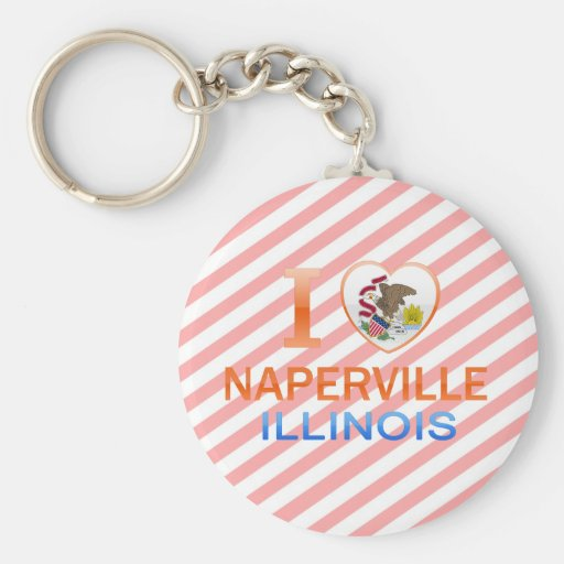 I Love Naperville, IL Keychain