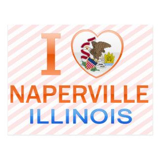 I Love Naperville, IL Postcard