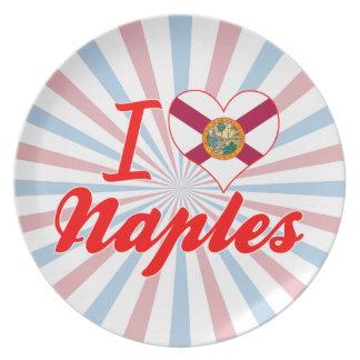 I Love Naples, Florida Dinner Plates