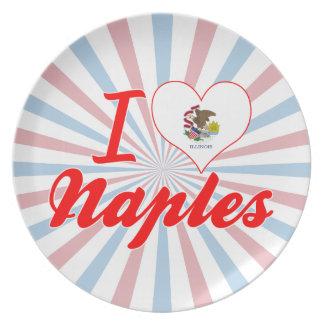 I Love Naples, Illinois Plate