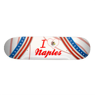 I Love Naples, Illinois Skate Board Deck