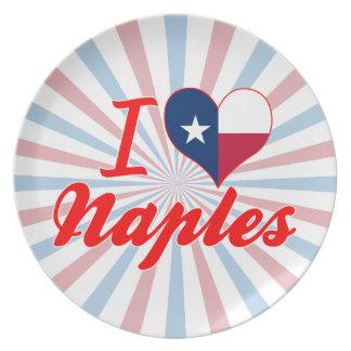 I Love Naples, Texas Dinner Plate