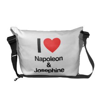 i love napoleon and josephine courier bag
