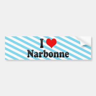I Love Narbonne, France Bumper Sticker