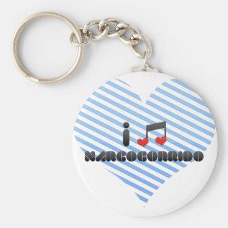 I Love Narcocorrido Keychains