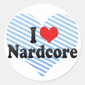 I Love Nardcore Classic Round Sticker