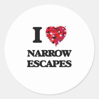 I Love Narrow Escapes Classic Round Sticker