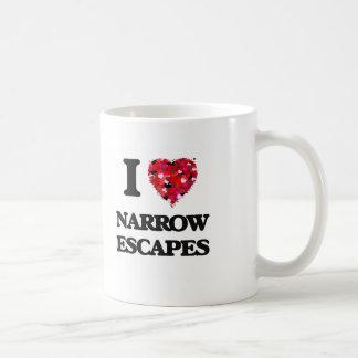 I Love Narrow Escapes Classic White Coffee Mug