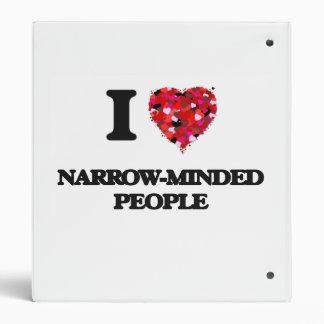 I Love Narrow-Minded People Vinyl Binder