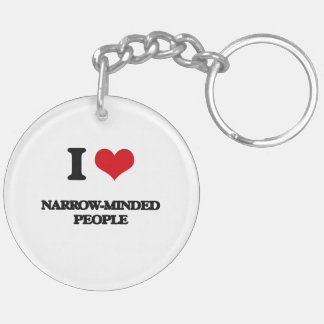 I Love Narrow-Minded People Double-Sided Round Acrylic Keychain