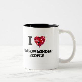 I Love Narrow-Minded People Two-Tone Coffee Mug