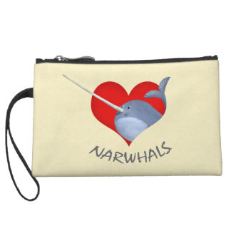 I love Narwhals Wristlet Purses
