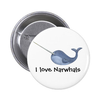 I love Narwhals Buttons