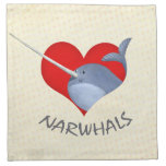 I love Narwhals Cloth Napkins