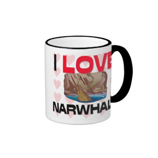 I Love Narwhals Coffee Mug