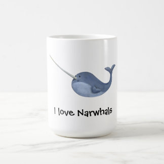 I love Narwhals -custom text - Coffee Mug