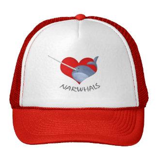 I love Narwhals Trucker Hat