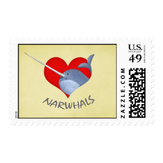 I love Narwhals Postage
