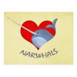 I love Narwhals Postcard