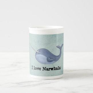 I love Narwhals Porcelain Mug