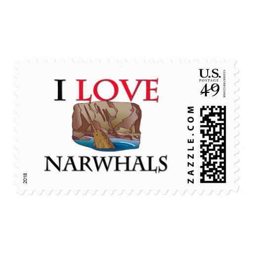 I Love Narwhals Stamps