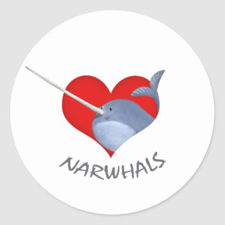 I love Narwhals Stickers