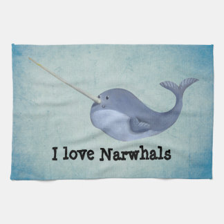 I love Narwhals Towel