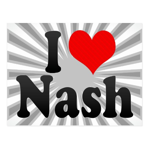 I love Nash Postcard