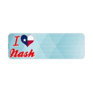I Love Nash, Texas Return Address Label