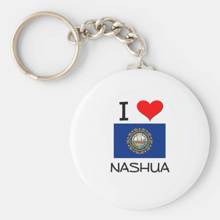 I Love Nashua New Hampshire Keychain
