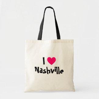 I Love Nashville Canvas Bags
