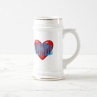 I Love Nashville Beer Stein