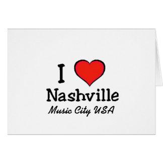 I Love Nashville Greeting Card